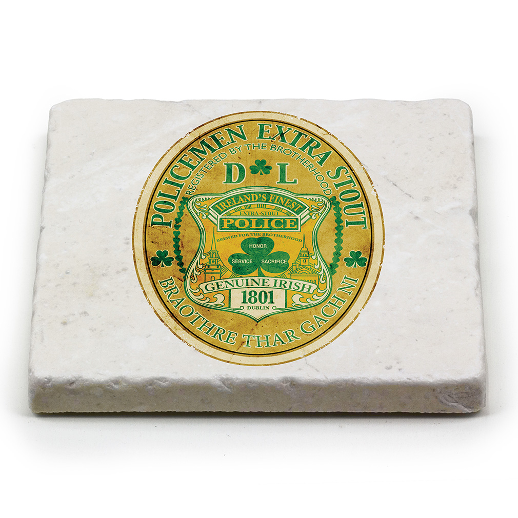 Irelands finest police natural stone coasters - Stone coasters for drinks ...