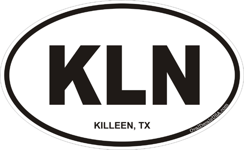 Killeen texas oval decal