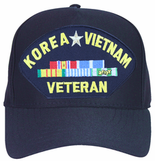 Korea, Vietnam Veteran with Ribbons Ball Cap