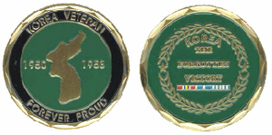 Korean Veteran 'Forever Proud' Challenge Coin