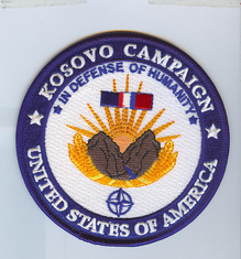 """Kosovo Campaign Medal 4"""" Patch"""