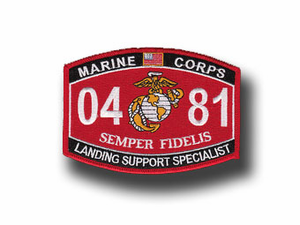"Landing Support Specialist Marine Corps MOS 0481 USMC 5"" Military Patch"