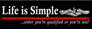 """Life is Simple"" Bumper Sticker"