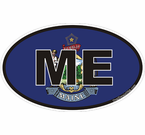 Maine Oval Decals