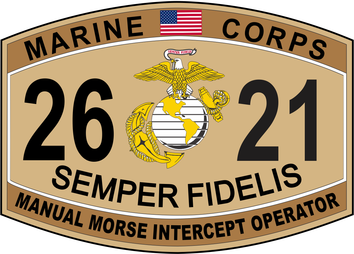 Manual Morse Intercept Operator Marine Corps MOS 2621 Decal