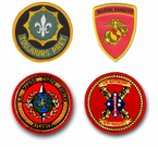 Marine Corps Bases, Units and School Patches