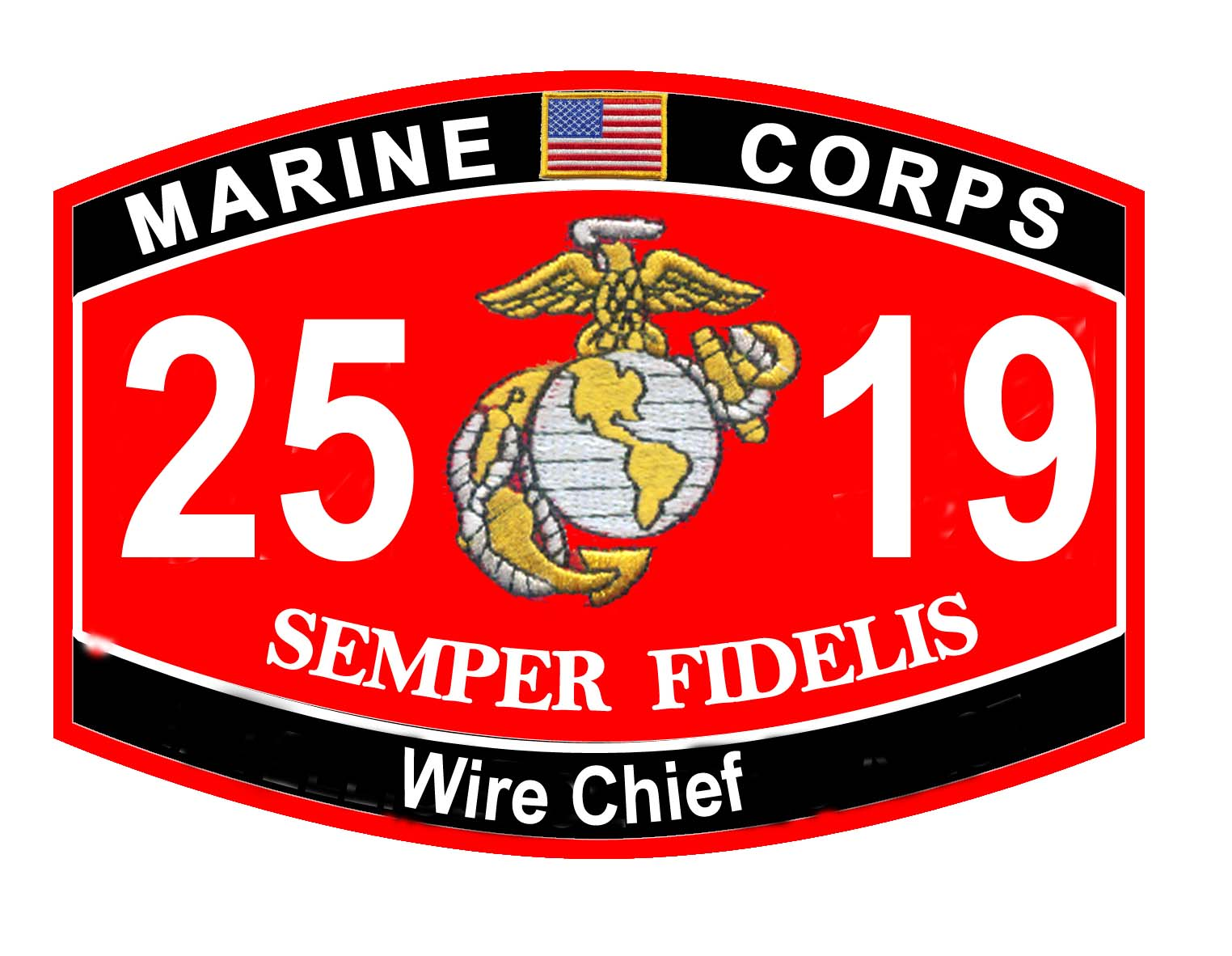 Marine corps military wire chief mos 2519 usmc semper for Marine corps motor t