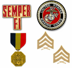 Marine Corps Pins Patches Coins and Medals