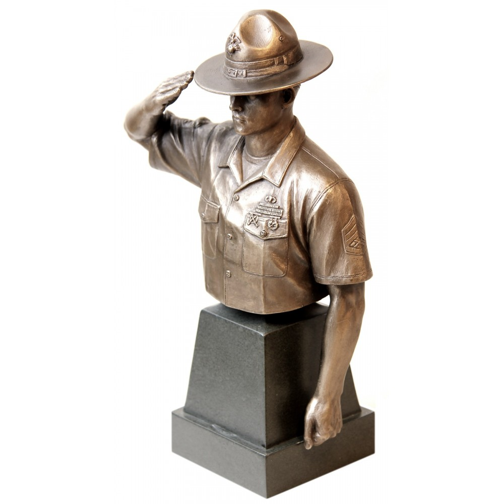 Marine Drill Instructor Bronze Bust