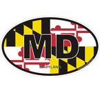 Maryland Oval Decals