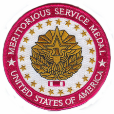 "Meritorious Service Medal 4"" Patch"