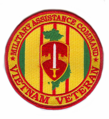 "Military Assistance Command Vietnam Veteran 4"" Patch"