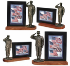Military Bronze Statue Photo Frames
