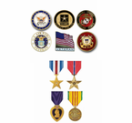 Military Pins, Patches, Coins and Medals