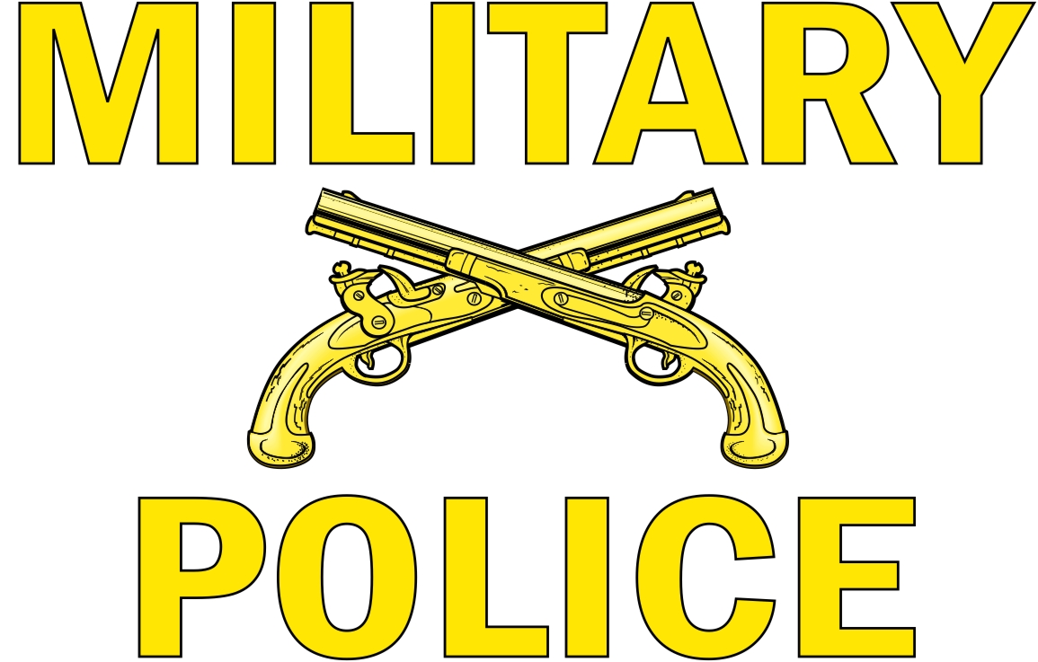 Military Police Window Strip Vinyl Transfer Decal