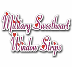 Military Sweetheart Window Stickers