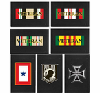 Military Trifold Direct Embroidered Wallets
