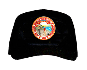 minnesota mn state seal ball cap