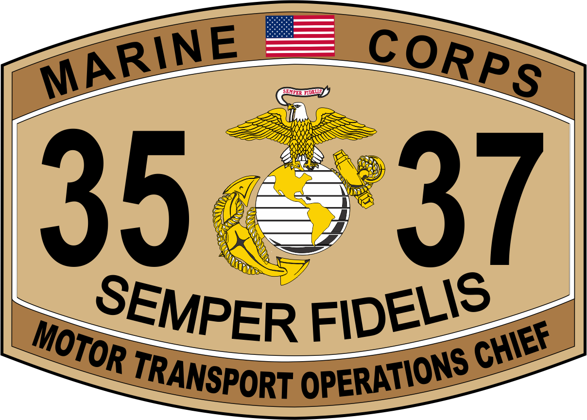 Motor transport operations chief marine corps mos 3537 for Marine corps motor t