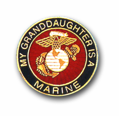 'MY GRANDDAUGHTER IS A MARINE' LAPEL PIN