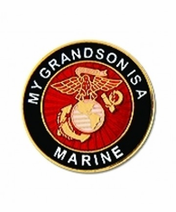 'MY GRANDSON IS A MARINE' LAPEL PIN
