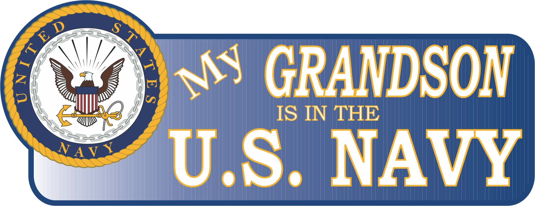 My Grandson Is In The Navy Vinyl Transfer Bumper Sticker