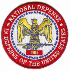 """National Defense Medal 4"""" Patch"""