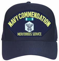 Navy Commendation, Meritorious Service with Medal Ball Custom Embroidered Cap
