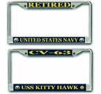 Navy License Plate Frames