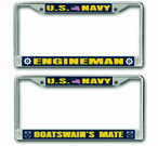 Navy Rate License Plate Frames