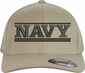 Navy Script Flex-Fit Brand Ball Cap