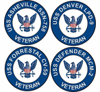 Navy Ship Veteran Decals