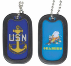 Navy ( USN ) Pride Dog Tags