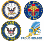 Navy Window Decals