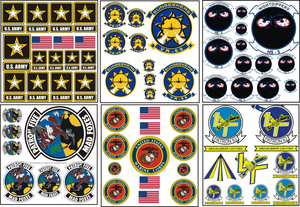 Navy Zaps Sheets Army Zaps Sheets Marine Corps Zaps Sheets Stickers and Decals