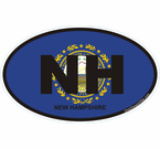 New Hampshire Oval Decals