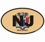 New Jersey Oval Decals