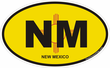 New Mexico Oval Decals Stickers