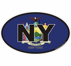 New York Oval Decals