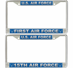 Numbered Air Forces License Plate Frames