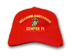 'Once A Marine, Always A Marine' Semper Fi Marine Corps Red Low Profile Ball Cap