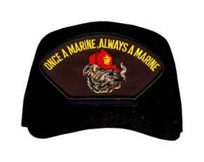 Once a Marine, Always a Marine' with Smoking Bulldog U.S.M.C Ball Cap