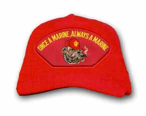 'Once a Marine, Always a Marine' with Smoking Bulldog Red Ball Cap