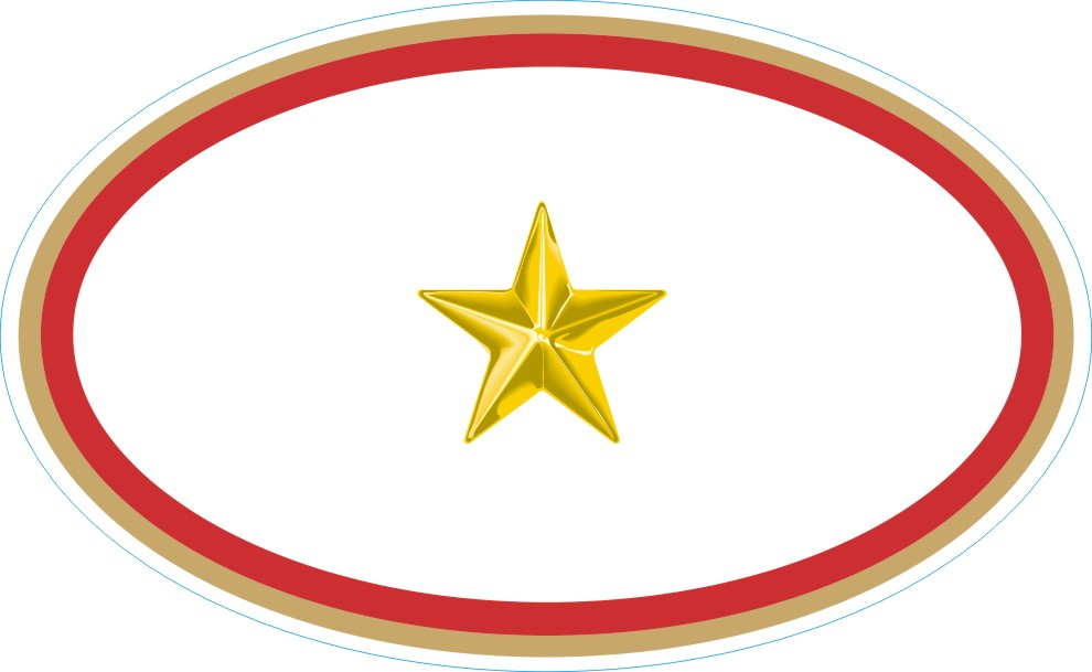 gold star service banner oval decal rh militarybest com free clipart gold star Gold Star Border Clip Art