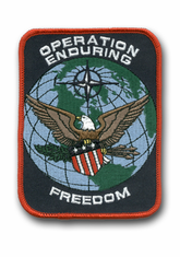 "OPERATION ENDURING FREEDOM 4½"" MILITARY PATCH"