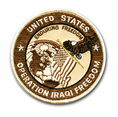 "'Operation Iraqi Freedom' OIF 4"" Desert Tan Military Patch"