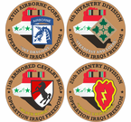 Operation Iraqi Freedom Round Decals