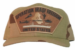 Operation Iraqi Freedom 'United States' Camo Ball Cap