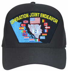 'Operation Joint Endeavor' with Flags Ball Cap