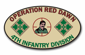 'Operation Red Dawn' 4th Infantry Division Vinyl Transfer Decal